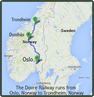 Reference Map - Dovre Railway Line