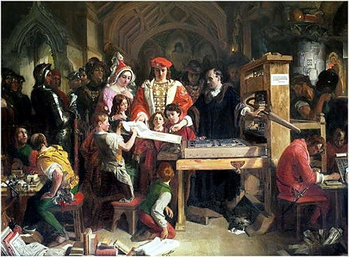 Painting of Caxton and King Edward IV by Daniel Maclise